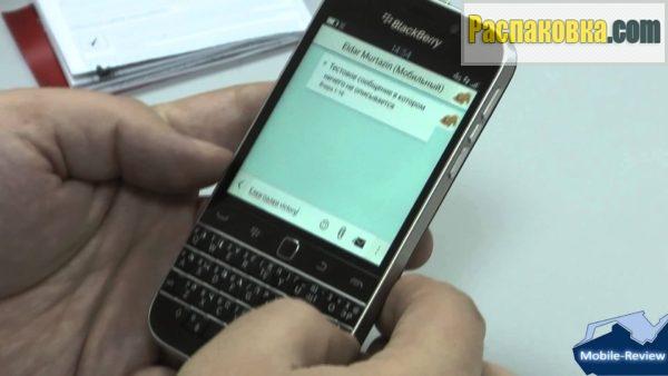 Распаковка и обзор смартфона BlackBerry Classic